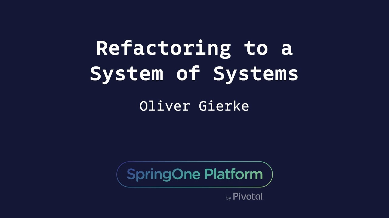 Refactoring to a System of Systems